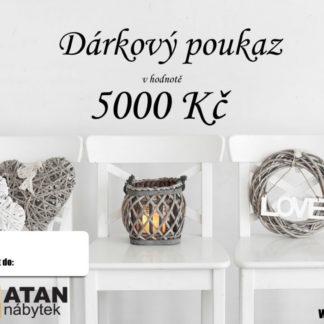ATAN Dárkový poukaz v hodnotě 5000 Kč Tištěný