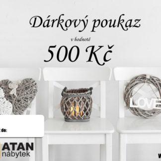 ATAN Dárkový poukaz v hodnotě 500 Kč Tištěný