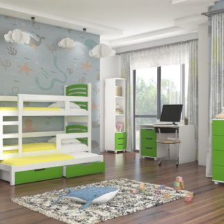 Designový dětský nábytek zelený Dunkeld