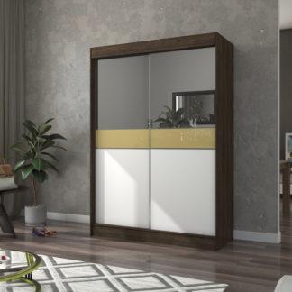 Zrcadlová skříň do ložnice 150 cm wenge