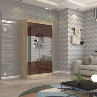 Šatní skříň s posuvnými dveřmi 120 cm - dub sonoma