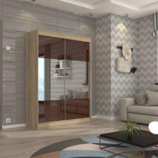 Dub sonoma skříň s posuvnými dveřmi 150 cm