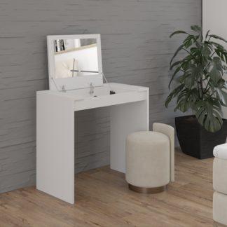 Kosmetický stolek se zrcadlem Beathe bílý