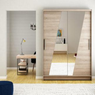 Dub lanýž zrcadlová šatní skříň 120 cm Sagres