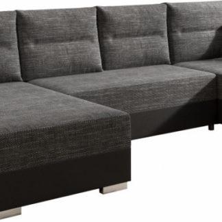 Tempo Kondela Univerzální sedací souprava ESSEN - /černý melír + kupón KONDELA10 na okamžitou slevu 3% (kupón uplatníte v košíku)
