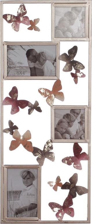Autronic Kovová nástěnná dekorace s fotorámečky FB-1460